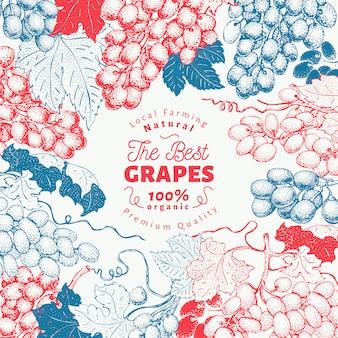 Grape berry frame template.