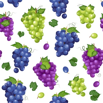 Grape bunch seamless pattern