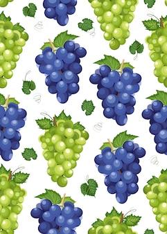 Grape bunch seamless pattern
