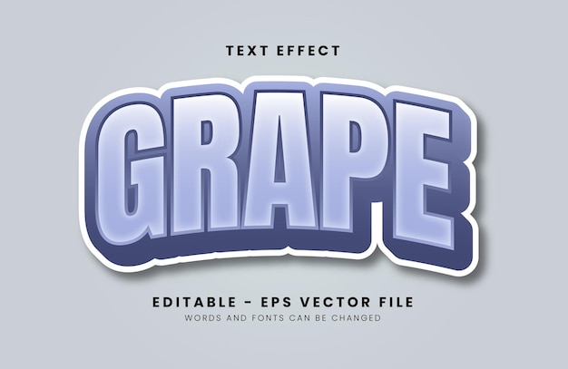 Grape font effect with pastel color