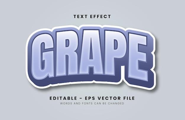 Grape font effect with pastel color Premium Vector