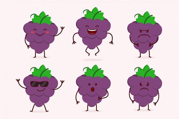 Grape fruit character set