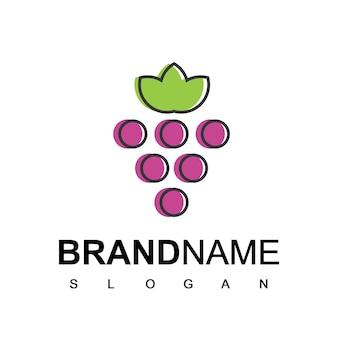 グレープフルーツのロゴのテンプレート