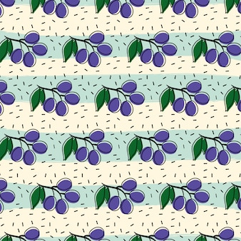 Grape fruit pattern background