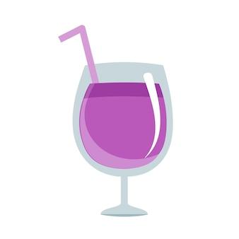 Изолированный дизайн иллюстрации квартиры виноградного сока