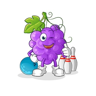 The grape play bowling.