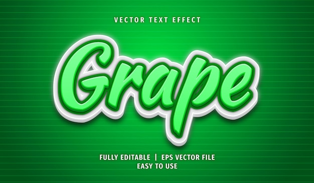 Grape text effect, editable text style