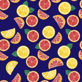 Грейпфрут и лимон бесшовные модели