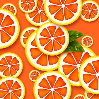 Грейпфрут бесшовные модели