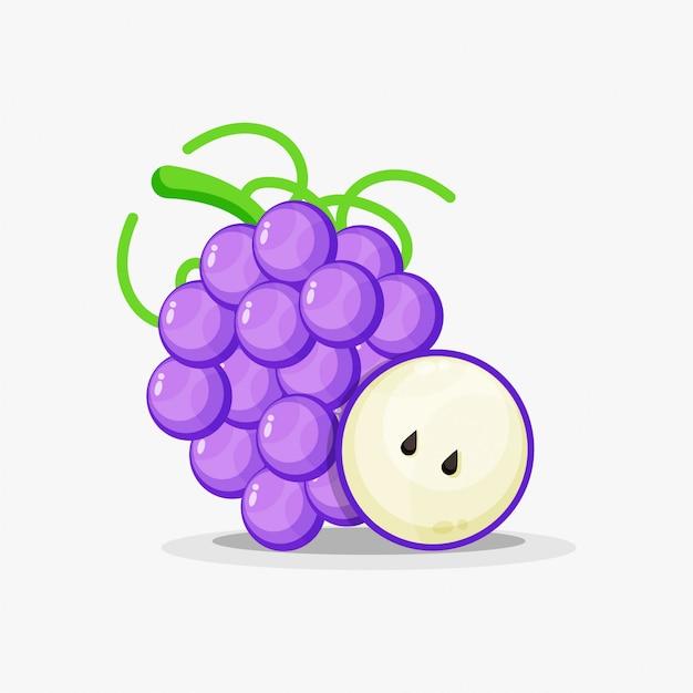 Виноград и кусочки винограда