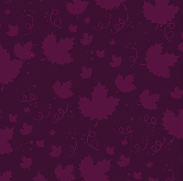 Grapes leafs pattern background