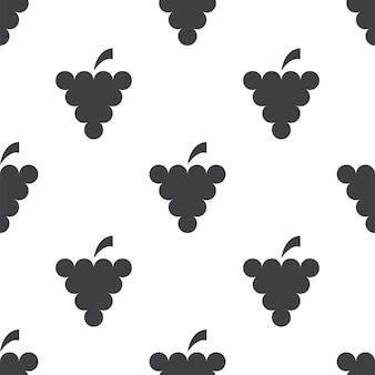 Виноград, вектор бесшовные модели, редактируемый может использоваться для фона веб-страницы, узорные заливки