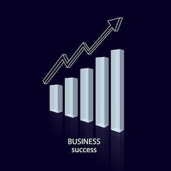 グラフビジネスチャートの成功の透明性