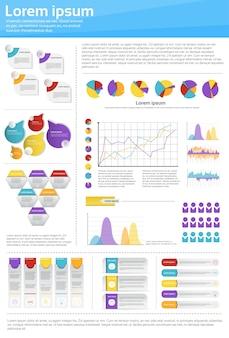 Graph set finance diagram infographic