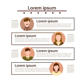 Graph set human resources infographic