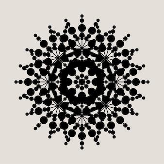 그래픽 추상 만다라 레이스 장식 패턴 배경입니다.