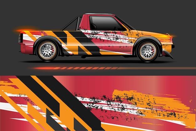 Графические абстрактные полосы для брендинга и дрифт-ливреи автомобиля