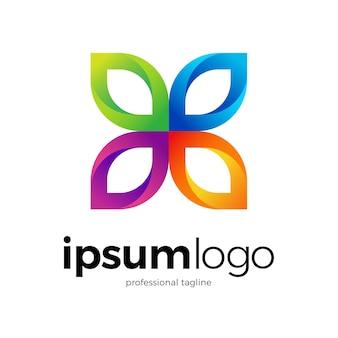 グラフィック蝶のロゴデザイン