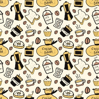 Graphic coffee pattern