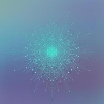 과학 기술 그래픽 구성 프리미엄 벡터