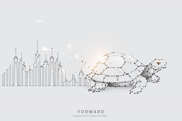 Graphic concept of moving forward