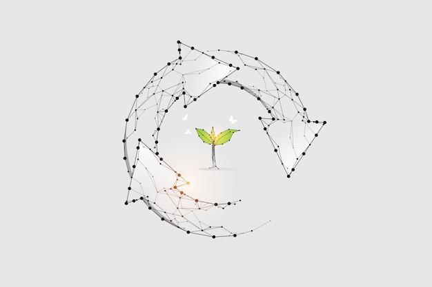ライフサイクルのグラフィックのコンセプト。