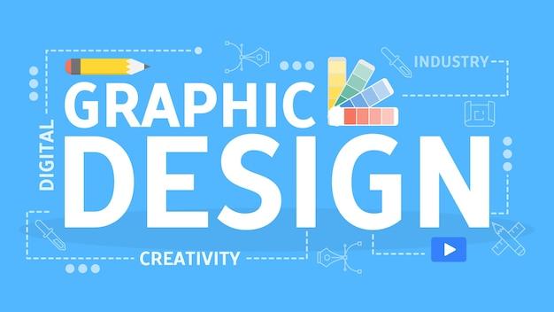 Концепция графического дизайна. идея цифрового искусства