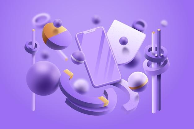 Концепция графического дизайна в пастельных тонах