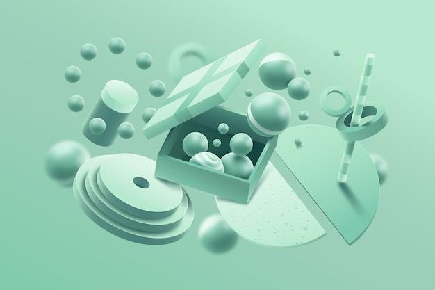 Graphic design concept in pastel colors