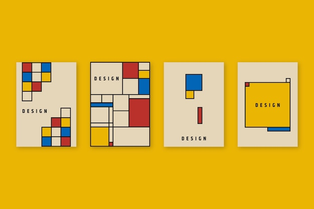 Graphic design cover in bauhaus style