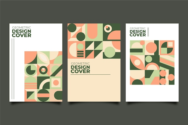 Graphic design cover collection in bauhaus style