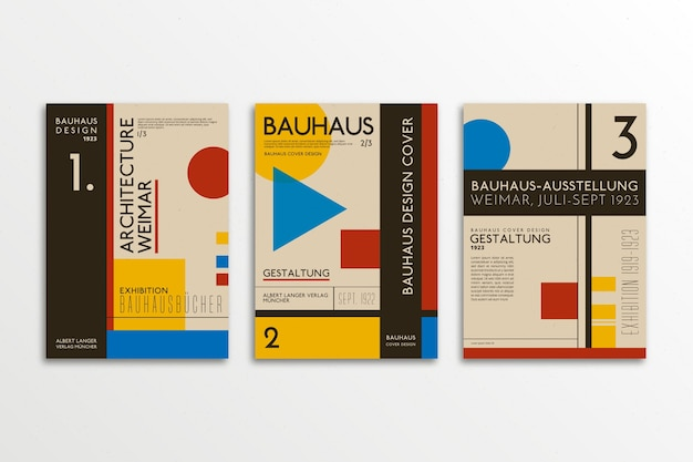 Graphic design cover set