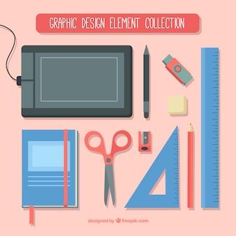 Collezione di elementi di design grafico in stile piatto