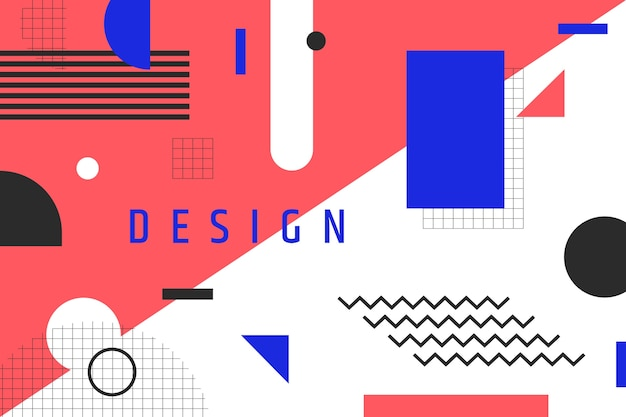 Graphic design geometric background and title