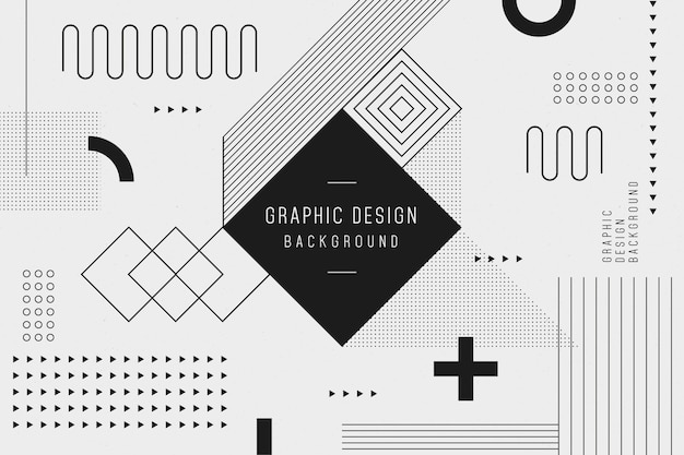 Graphic design geometric background