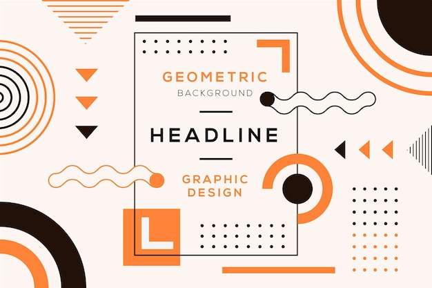 Graphic design geometrical background