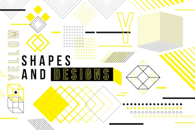 Graphic design geometrical wallpaper