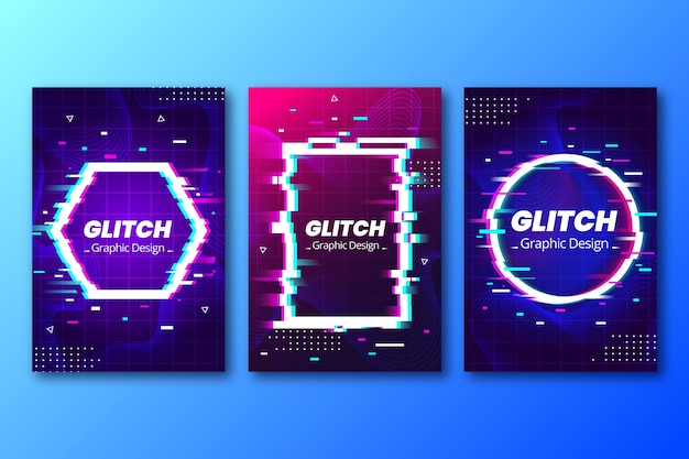 Graphic design glitch cover collection