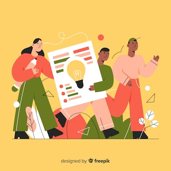 Graphic design idea concept