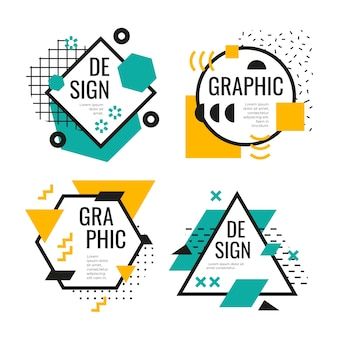 Graphic design labels collection