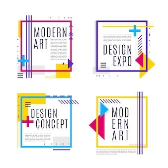 Графический дизайн этикетки в геометрическом стиле