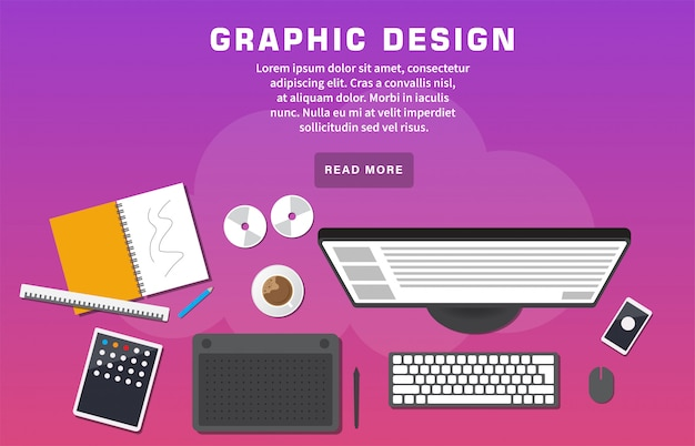 Graphic design landing page template