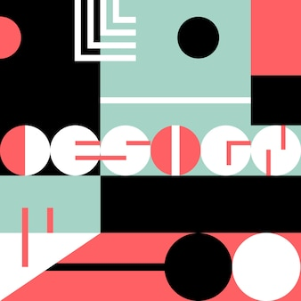 幾何学的なレタリングのグラフィックデザインレタリング