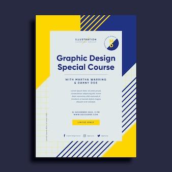 Шаблон графического дизайна плаката Premium векторы