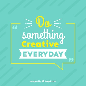 Graphic design quote in flat style