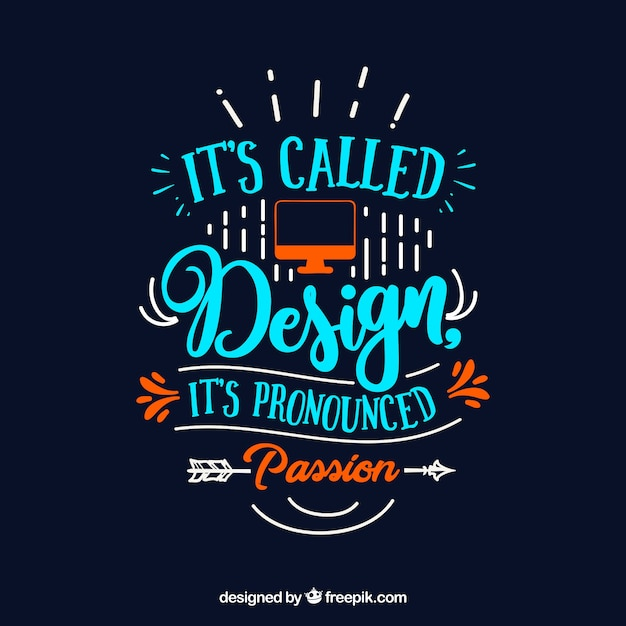 Image of: Wallpaper Graphic Design Quote In Hand Drawn Style Inspirational Quotes Of The Day Typography Vectors Photos And Psd Files Free Download