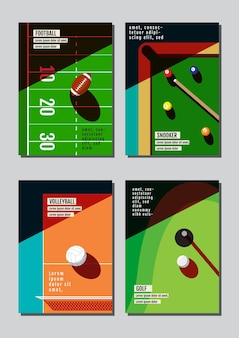 Graphic design sport concept
