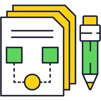 Графический дизайн вектор эскиза значка приложения на белом