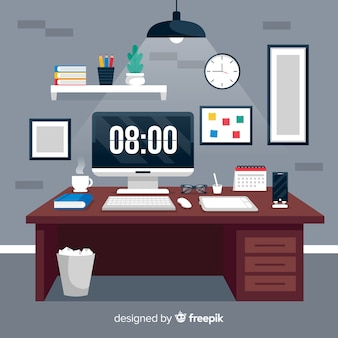 Graphic design workplace illustration