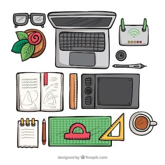 Sfondo dell'area di lavoro di progettazione grafica
